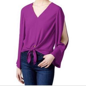 RACHEL Rachel Roy blouse tie front
